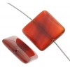 Carnelian 18mm Square Approx 9Pcs